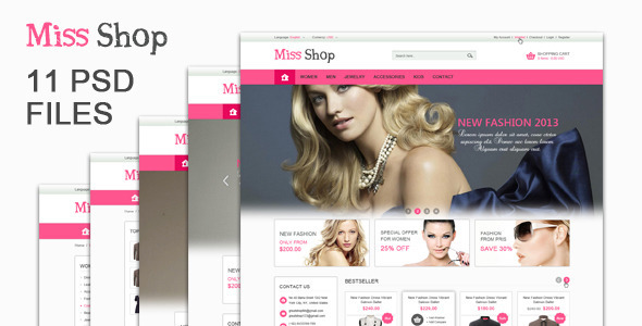 The Miss Shop – PSD Templates