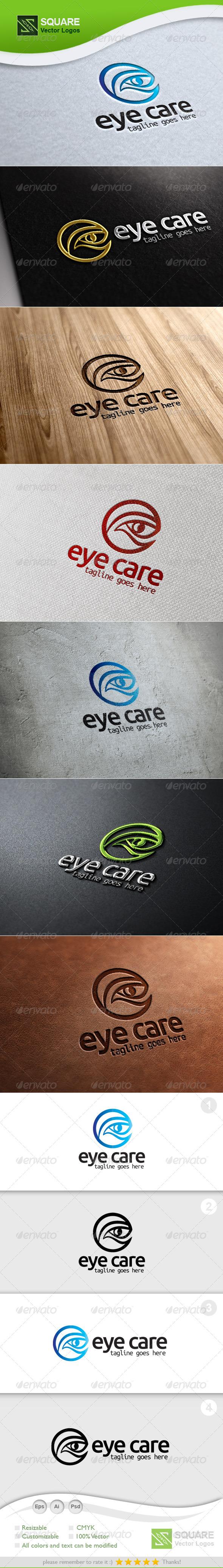E, Eye Vector Logo Template - Humans Logo Templates