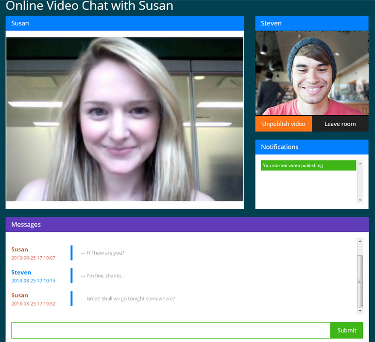 video chat webcam