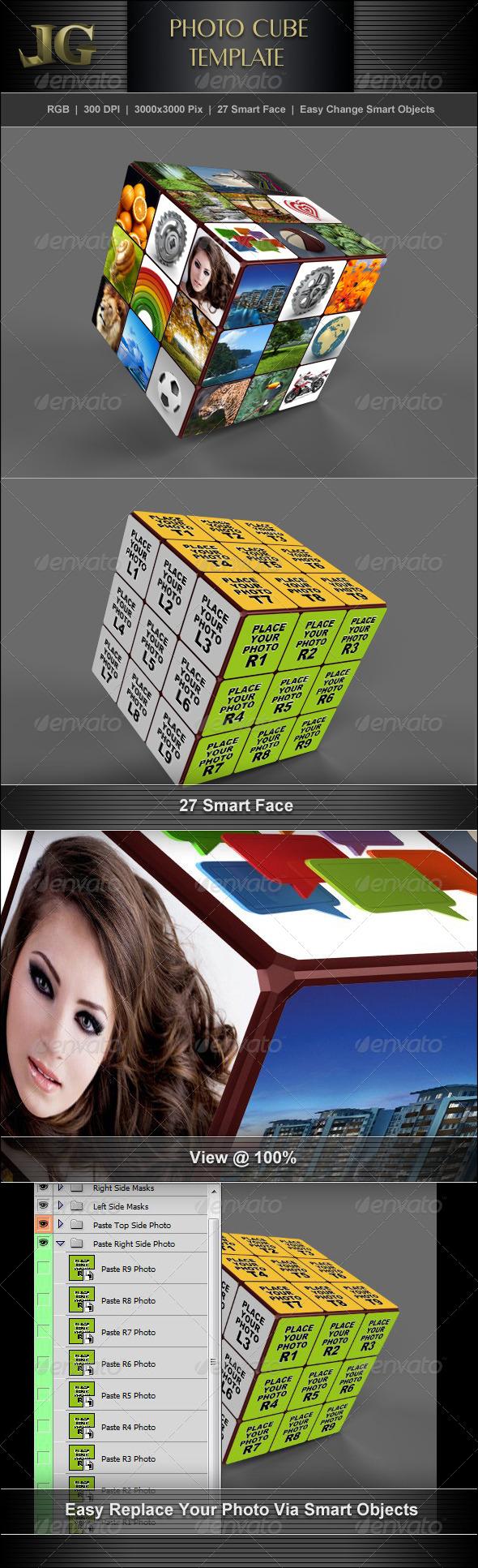 Photo Cube V2 - Photo Templates Graphics
