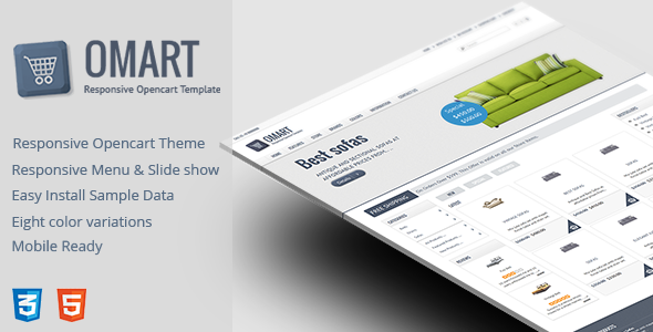 Omart – Mobile ready Opencart theme