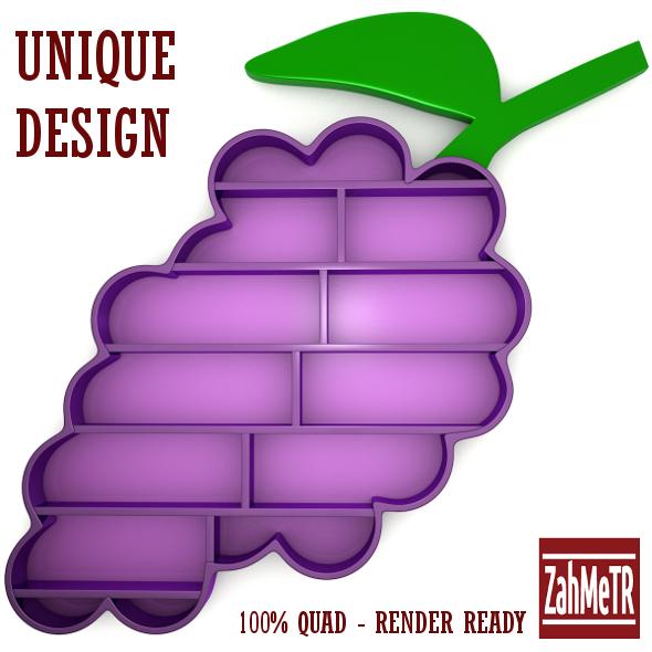 Grape Bookshelf Unique Concept Design - 3DOcean Item for Sale