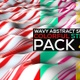 Wavy Abstract Surface With Colorful Stripes Pack - VideoHive Item for Sale