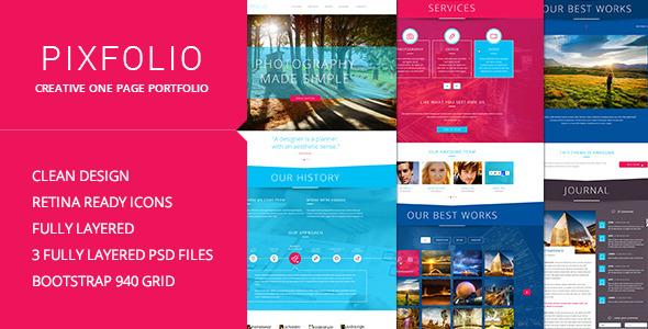Pixfolio – Creative One Page Portfolio