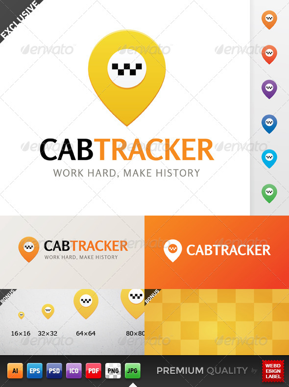 Cab Tracker Logo - Objects Logo Templates