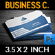 Horizontal Blue Business Card - GraphicRiver Item for Sale