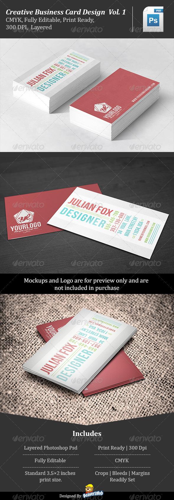 Creative Business Card Design Vol.1 - Creative Business Cards