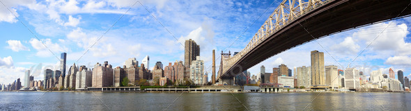 Queensboro Bridge panorama NYC - Stock Photo - Images