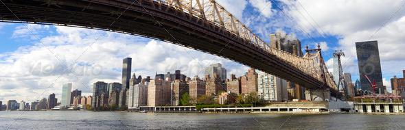 NYC Queensboro Bridge panorama - Stock Photo - Images