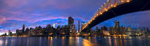 Manhattan midtown panorama - Stock Photo - Images