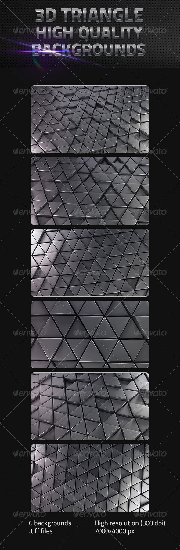 3D Triangle Backgrounds - 3D Backgrounds