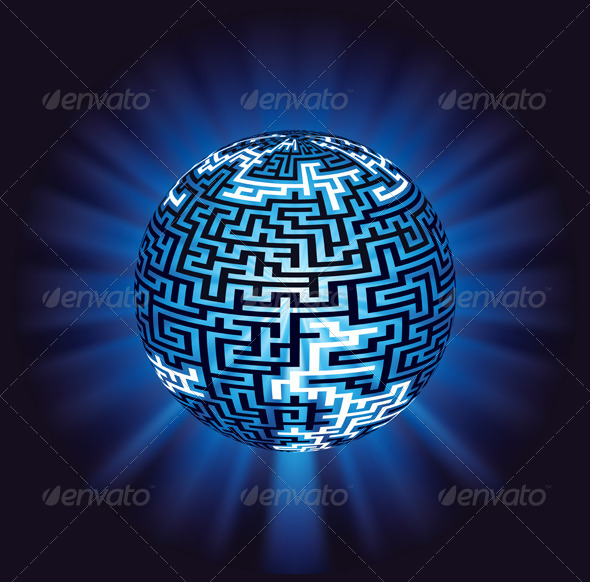 Globe Labyrinth Maze with Illumination - Communications Technology