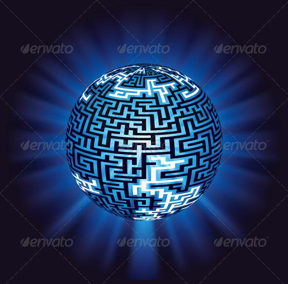 Globe Labyrinth Maze with Illumination - Communications Technology