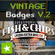 8 Vintage Labels / Retro Insignias V.2 - GraphicRiver Item for Sale