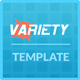 Variety Responsive Portofolio Template - ThemeForest Item for Sale