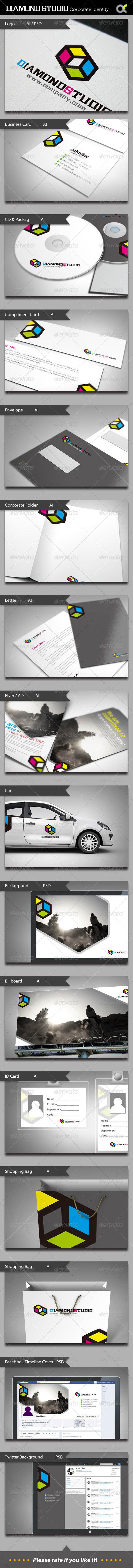 Diamond Studio Corporate Identity - Stationery Print Templates