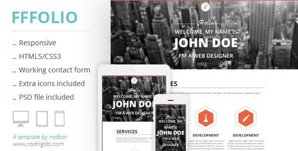 Fffolio – Responsive Portfolio Template