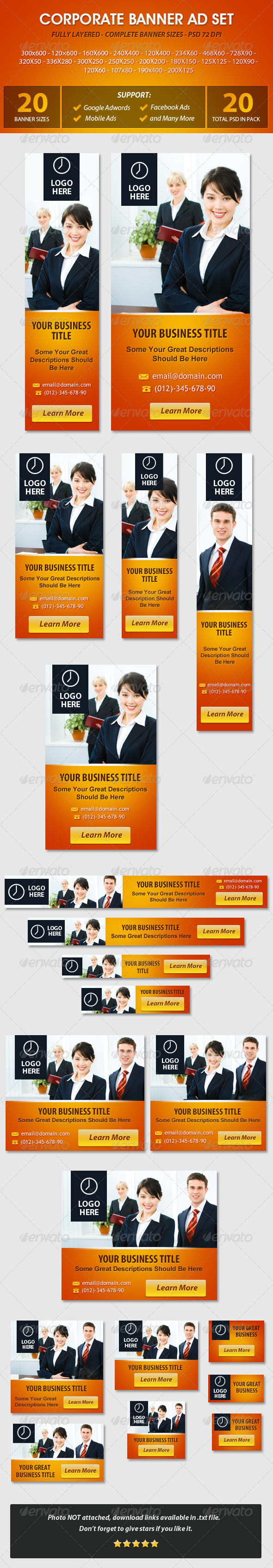 Corporate Banner ad Set - Banners & Ads Web Elements