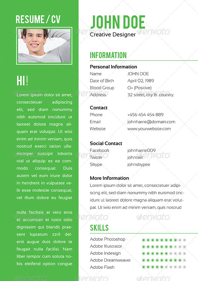 4 Pages Classic InDesign Resume by ContestDesign | GraphicRiver