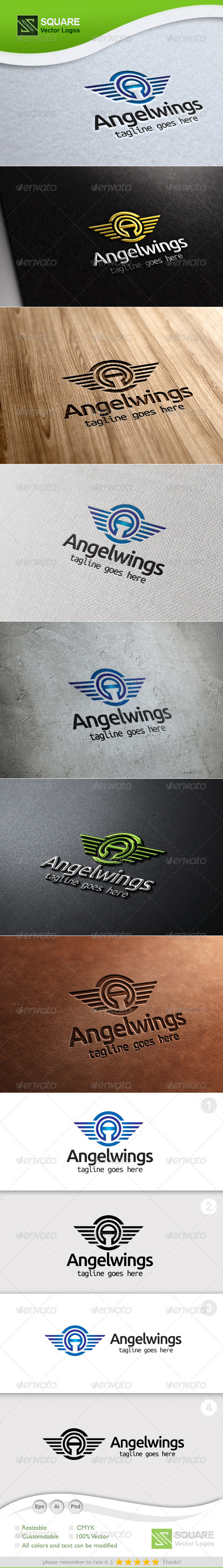 A Letter Wings Vector Logo Template - Letters Logo Templates