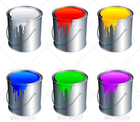Decorative Clear Paint Cans