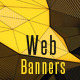 LowPoly Marketing Web Banners - GraphicRiver Item for Sale