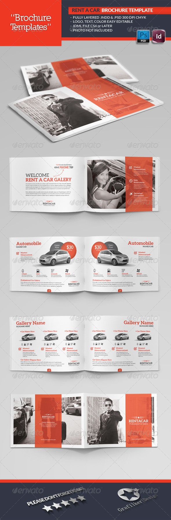 rent a car brochure template catalogs brochures