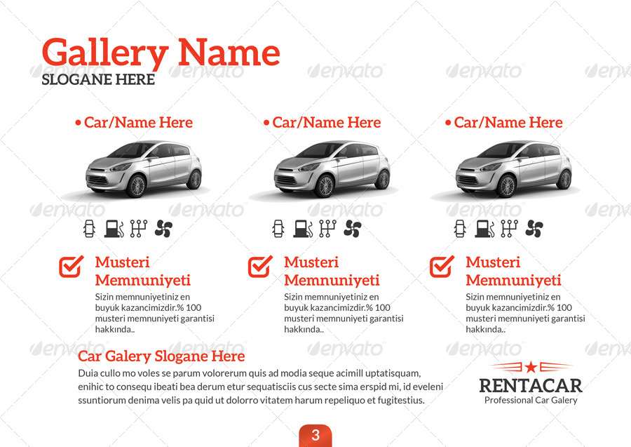 car brochure template - rent a car brochure template by grafilker graphicriver