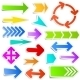 Colourful Paper Arrow Stickers - GraphicRiver Item for Sale
