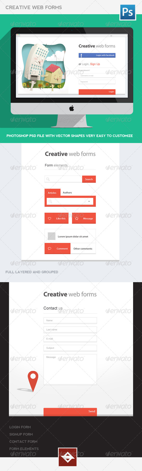 Creative Web Forms - Forms Web Elements