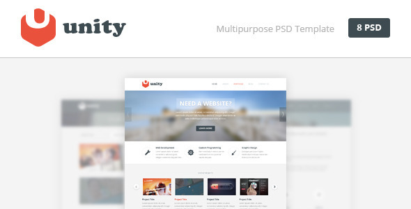 Unity – Multipurpose PSD Template
