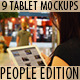 9 photo Tablet mock-ups: People edition - GraphicRiver Item for Sale
