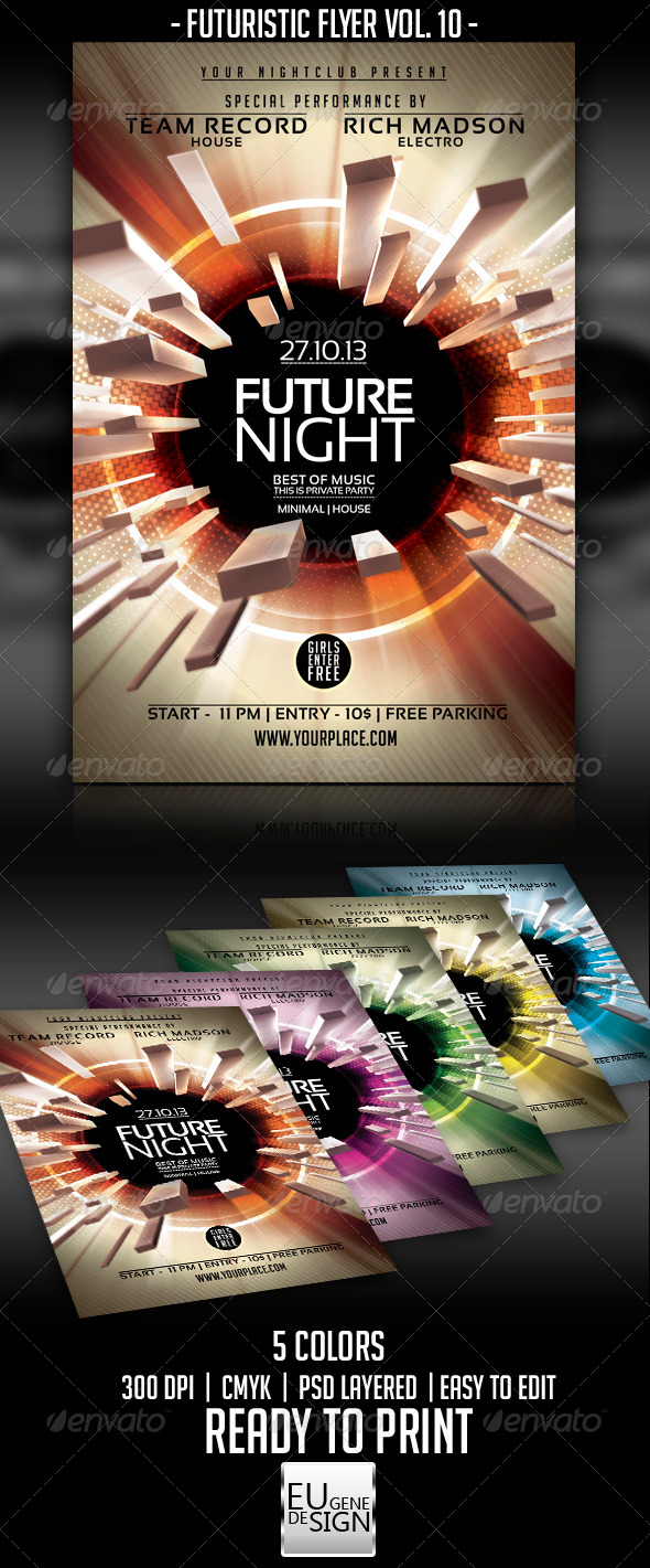 Futuristic Flyer Vol. 10 - Clubs & Parties Events