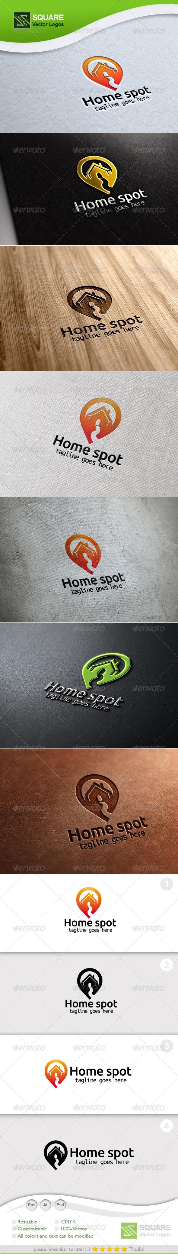 House, Locator Vector Logo Template - Buildings Logo Templates