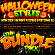 Halloween Photoshop Layer Styles Bundle - GraphicRiver Item for Sale