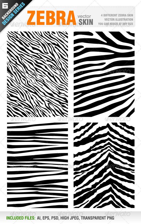 Zebra Skin Set - Animals Characters