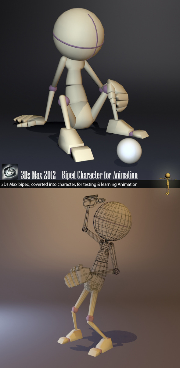 Biped Character - 3DOcean Item for Sale