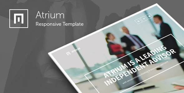 Atrium - Responsive Corporate One Page Template - Corporate Site Templates