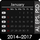 Simple Calendar 2014-2017 - GraphicRiver Item for Sale