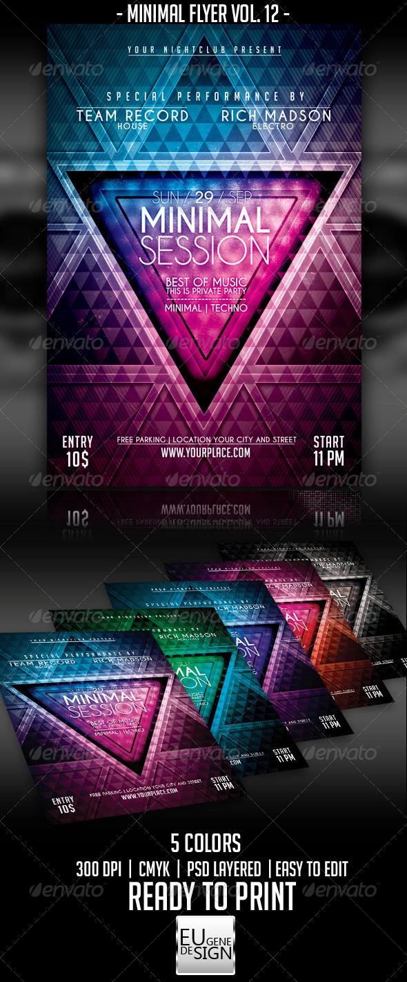 Minimal Flyer Vol. 12 - Clubs & Parties Events