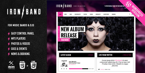 IronBand – Music Band & DJ WordPress Theme