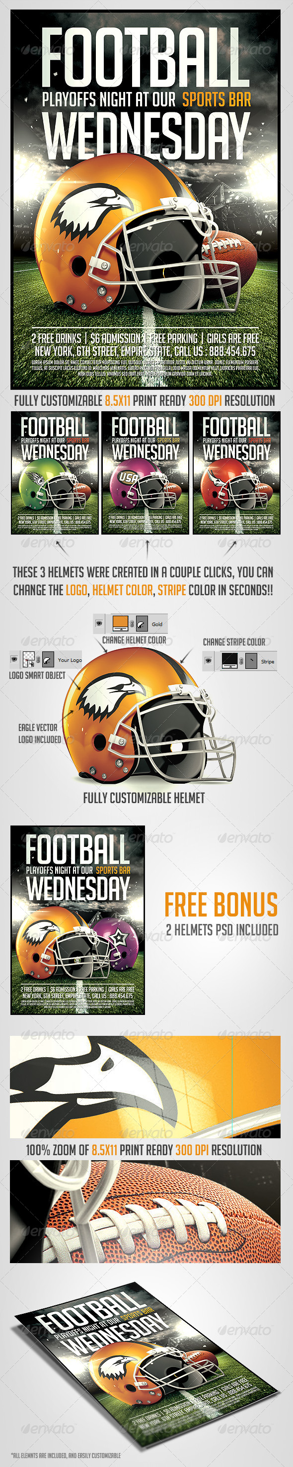 Football Night Flyer Template - Sports Events
