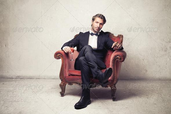 Elegant Armchair - Stock Photo - Images