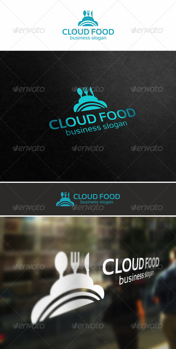 Cloud Food Logo - Food Logo Templates