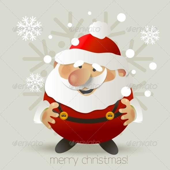 Santa Claus Vector Illustration  - Patterns Decorative