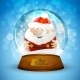 Christmas Snow Globe with Santa Claus - GraphicRiver Item for Sale