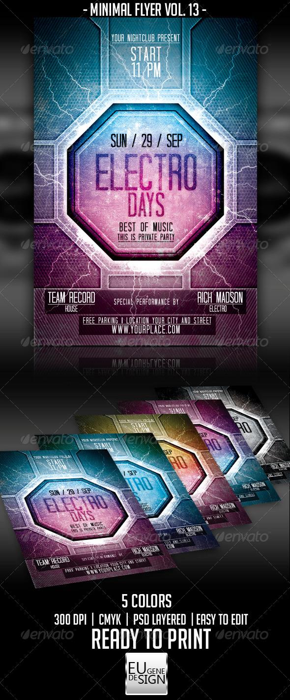 Minimal Flyer Vol. 13 - Clubs & Parties Events