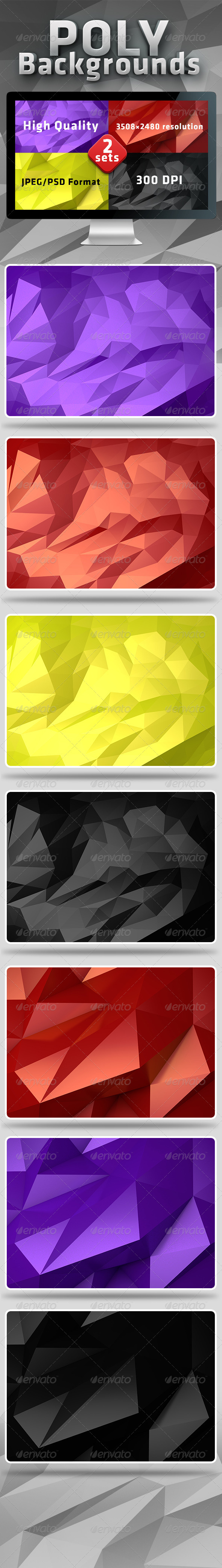 Poly Backgrounds - Abstract Backgrounds