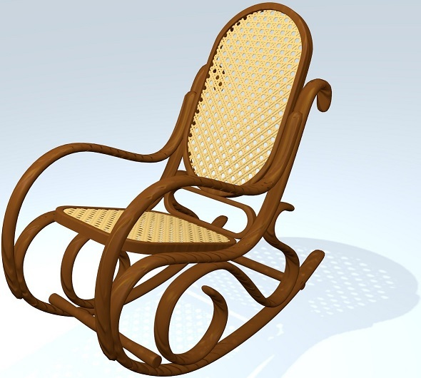 Classic Rocking Chair - 3DOcean Item for Sale