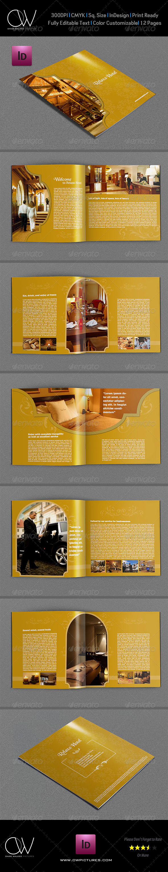 Hotel and Motel Brochure Template - 12 Pages - Brochures Print Templates